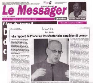 LM - EODE entretien Le Messager (2013 04 26) FR