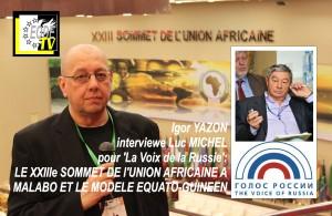 EODE-TV - LVDR fond XXIIIe SOMMET MALABO