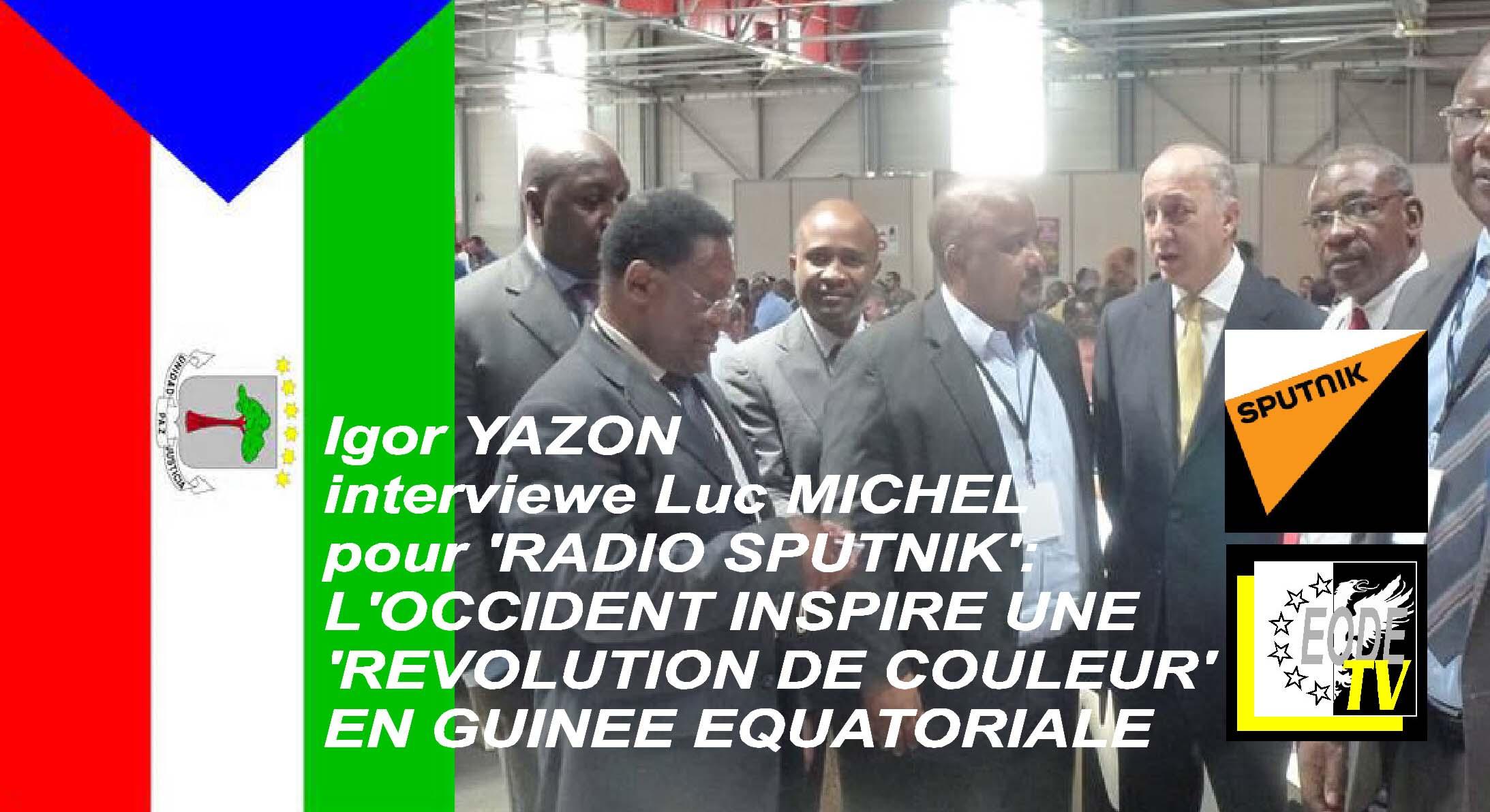 EODE-TV - LM destabilisation Guinee Eq. SPUTNIK.FR (2015 06 27)  FR