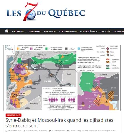 7QUEBEC  - LM analyse syrie djihadistes (2016 10 18) FR