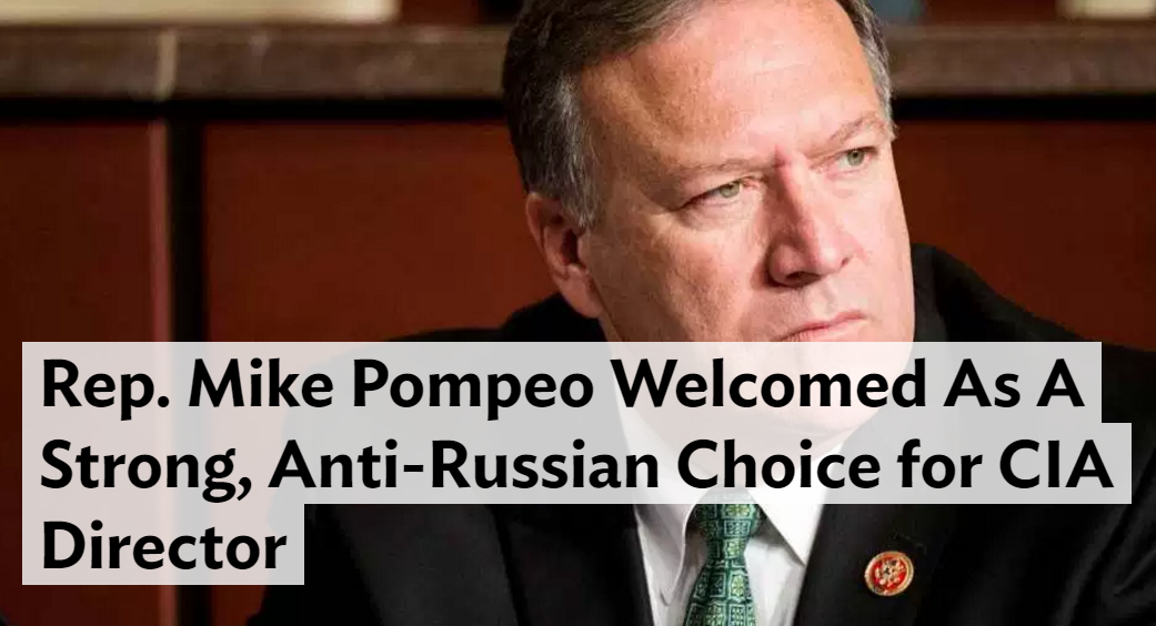 Rep. Mike Pompeo Welcomed As A Strong  Anti Russian Choice for CIA Director   Heat Street