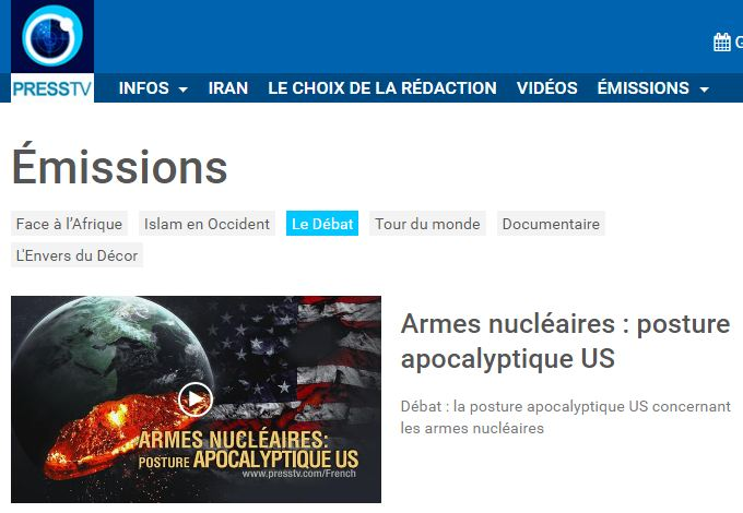 LM.PRESS TV - DEBAT doctrine  nucleaire deTrump (2018 02 09) 1