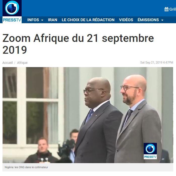 PANAF.NEWS - DER LM 038 ptv tshisekedi à bxl (2019 09 21) FR